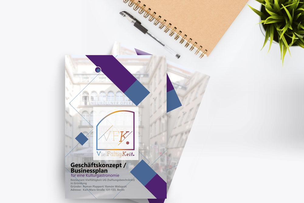 Vielfältigkeit Businessplan Layout und Logo