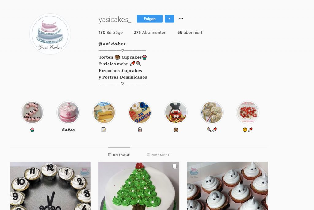 Yassi Cakes Instagram Account Bild